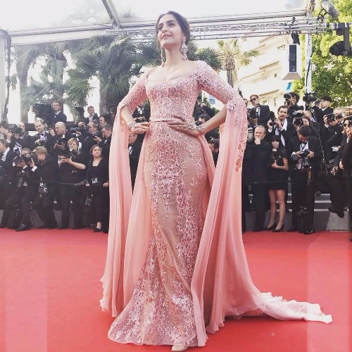 Sonam Kapoor at Cannes 2017 in Elie Saab