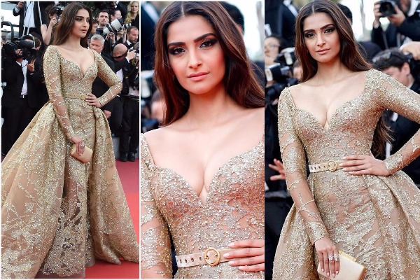 Cannes Film Festival 2017, Day 6: Sonam Kapoor Is All Glittering In Elie Saab Gold Gown!