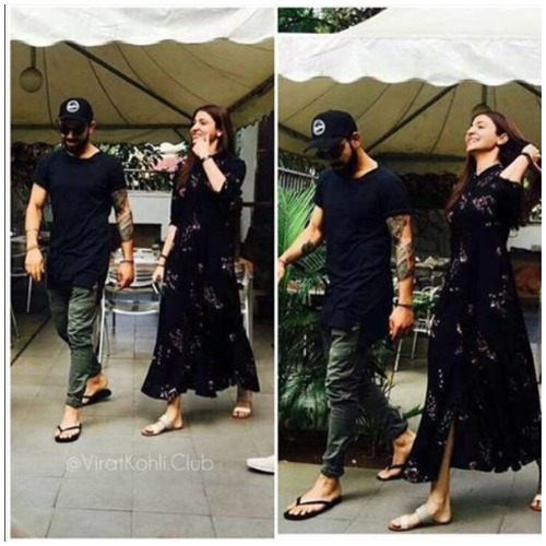 Virat Kohli Anushka Sharma lunch in bangalore
