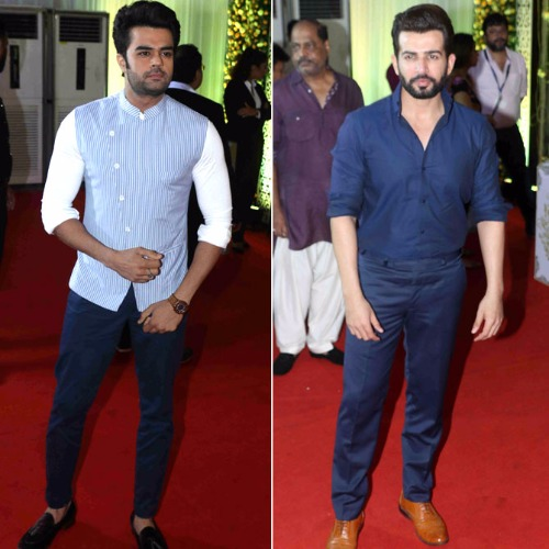Manish Paul & Jay Bhanushali at Baba Siddique's Iftar Party