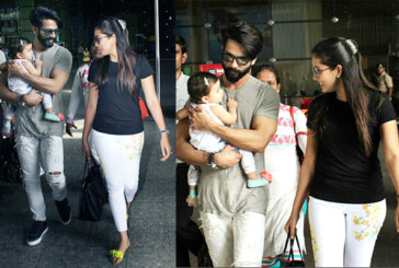 Damn Cute: Misha Kapoor With Daddy Shahid and Mommy Mira Spotted At Airport!