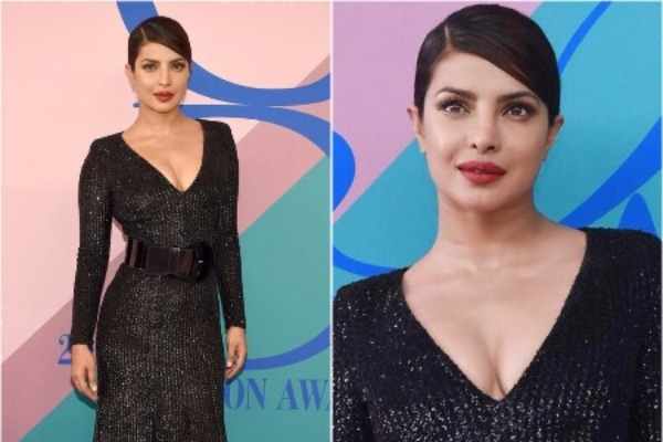 Priyanka Chopra Twinning In Michael Kors' Sequin Dress At The CFDA Fashion Awards 2017