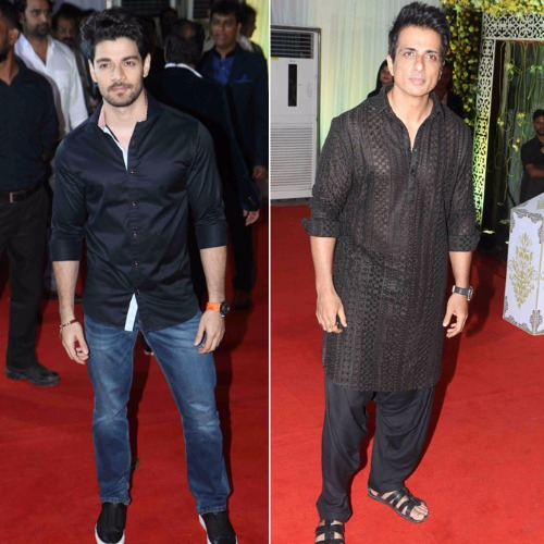 Sooraj Pancholi & Sonu Sood at Baba Siddique's Ifatr Party