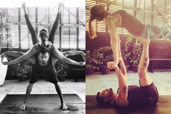 Bipasha Basu Shares Some Lovey-Dovey Yoga Poses With Karan Singh Grover On International Yoga Day!