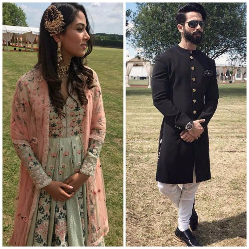 Royal Nawabi Look Of Shahid Kapoor Mira Rajput At London Wedding Is Redefining wedding Fashion
