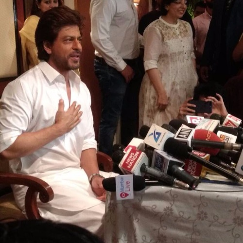 Shah Rukh Khan Son AbRam Greet Fans In Signature Style On Eid