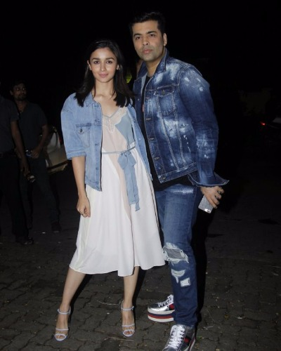 Alia Bhatt & Karan Johar attend Jitesh Birthday Bash