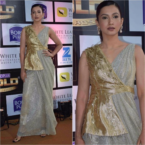 Gauahar Khan at Zee Gold Awards 2017