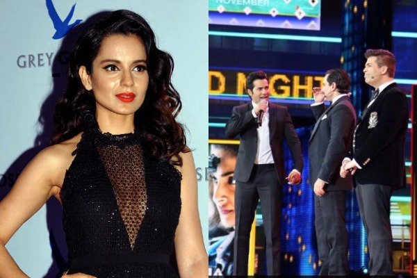KJo, Saif and Varun Dhawan Mocked Kangana Ranaut Chanting 'Nepotism Rocks' At IIFA