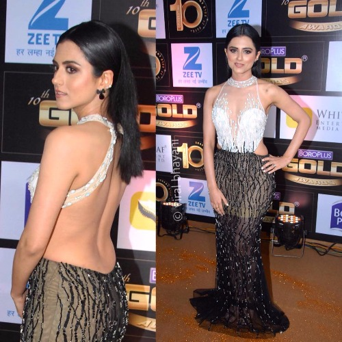 Riddhi Dogra at Zee Gold Awards 2017