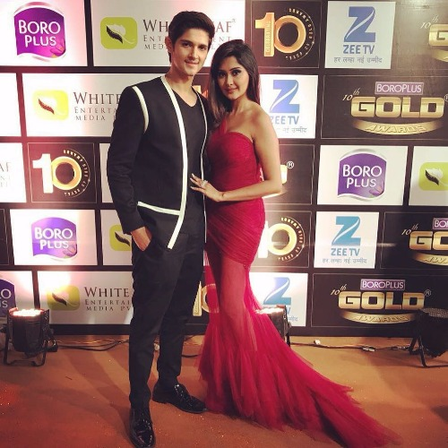 Rohan Mehra-Kanchi Singh at Zee Gold Awards 2017