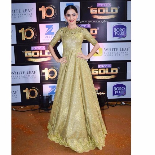 Sanjeeda Shaikh at Zee Gold Awards 2017