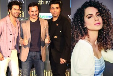 Varun Dhawan, Saif Ali Khan And Karan Johar Apologize For Mocking Kangana Ranaut At IIFA 2017