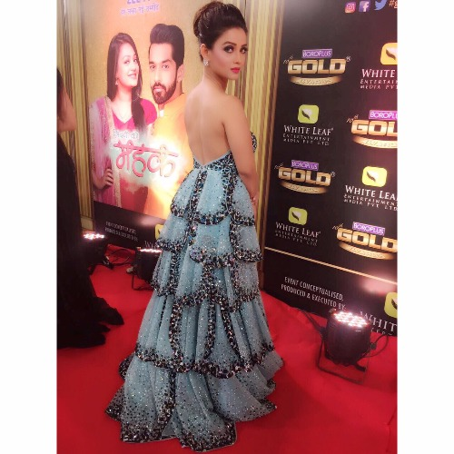 Adaa Khan at Zee Gold Awards 2017