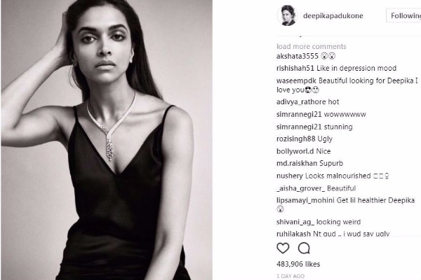 Body Shaming: Deepika Padukone Gets Trolled On Instagram For Being Too Skinny!