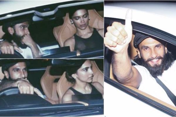 Ranveer Takes Deepika Padukone out on his birthday in his new car