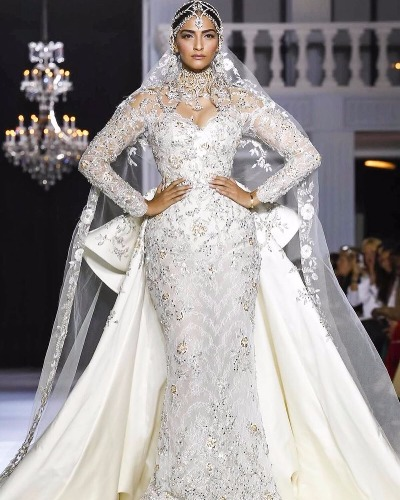 Sonam Kapoor as Showstopper for Ralph Russo at Paris Couture Week 2017