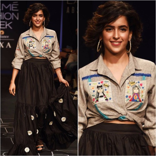 Sanya Malhotra at Lakme Fashion Week '17