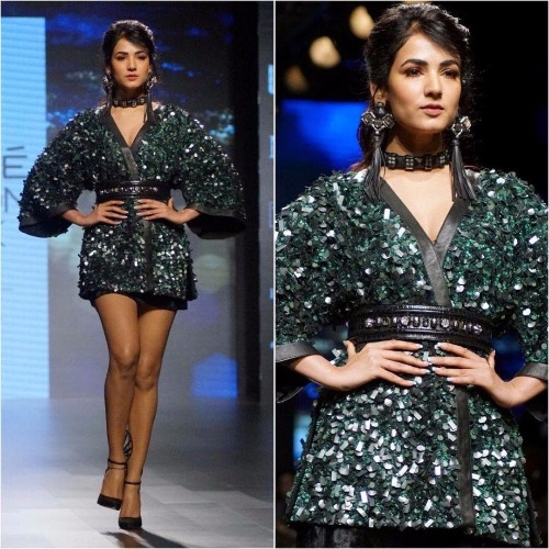 Sonal Chauhan for Sonal Verma in Lakme Fashion Week '17
