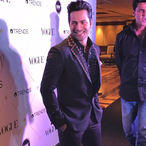 Varun Dhawan at Vogue Beauty Awards 2017