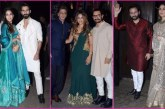 SRK, Gauri Khan, Deepika Padukone, Kareena Kapoor, Shahid At Aamir Khan's Grand Diwali Party