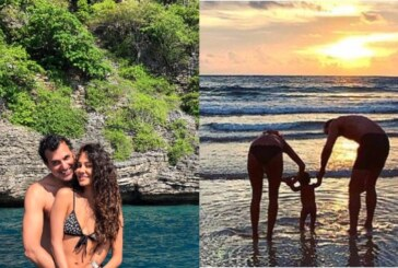 PHOTOS: Lisa Haydon & Dino Lalvani Rings In First Wedding Anniversary With Their Son, Along Beach Side