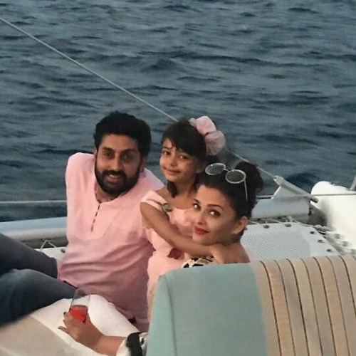 Abhishek Bachchan and Aishwarya with Aaradhya