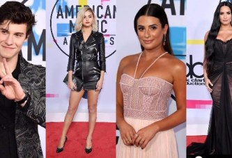 Selena Gomez, Renée Bargh, Lea Michele Hit The Red Carpet In Style at American Music Awards 2017