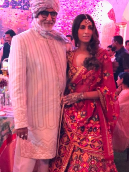 Amitabh Bachchan Shweta at the wedding