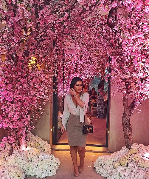 Kim Kardashian, Kanye West Cherry Blossom Baby Shower For Third Baby