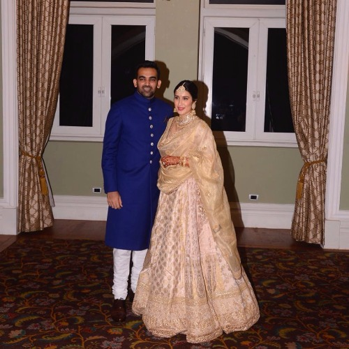 Anuhska Sharma, Virat Kohli Sagarika Ghatge, Zaheer Khan's Wedding Reception