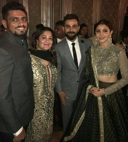nuhska Sharma, Virat Kohli Sagarika Ghatge, Zaheer Khan's Wedding Reception
