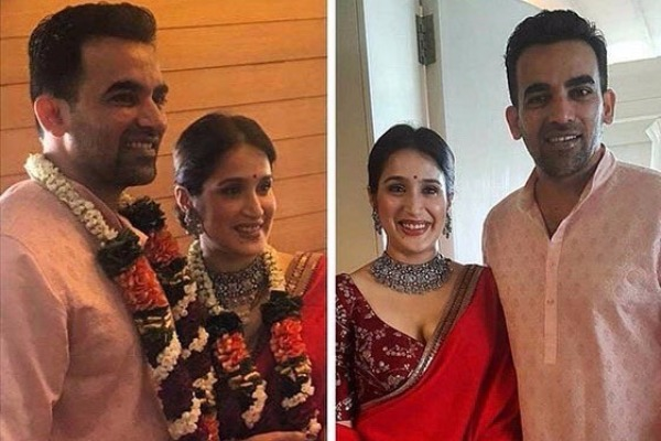 Cricketer Zaheer Khan and Sagarika Ghatge Are Officially Married – See Pics