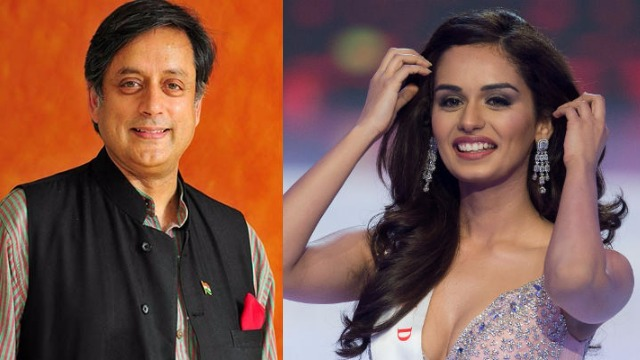 Miss World Manushi Chhillar's Classic Response To Shashi Tharoor, On His 'Chhillar' Pun