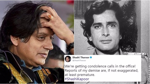 Name Goof-Up! Shashi Kapoor Dies, But Shashi Tharoor's Office Receives Condolence Calls