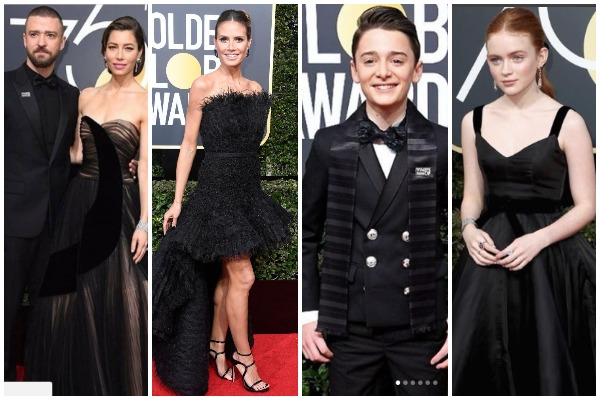 Golden Globes 2018: Seth Myers To Host & Celebs Walk The Red Carpet In Black Dress