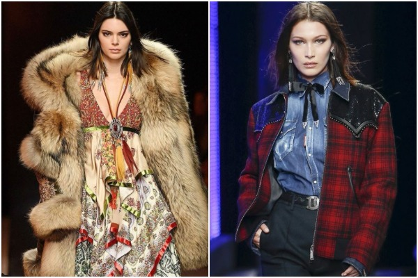 PICS: Bella Hadid & Kendall Jenner Stuns On Milan Fashion Week Runway For Dsquared2