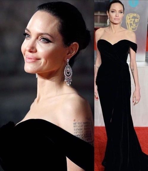 Angelina Jolie Best Dressed BAFTA 2018