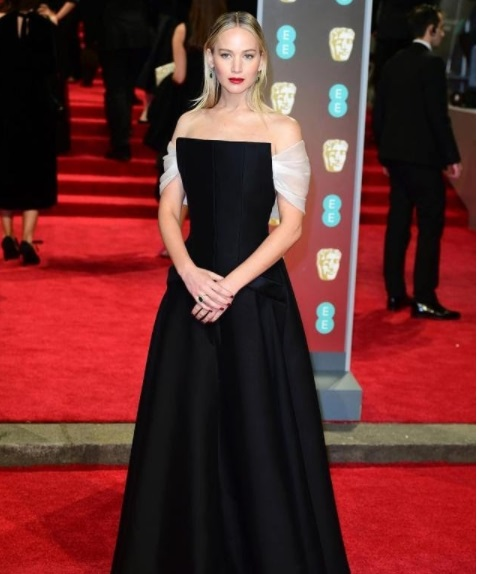Jennifer Lawrence Best Dressed BAFTA 2018