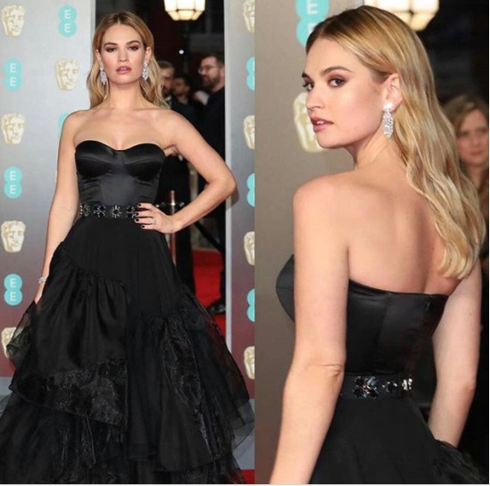 Lily James Best Dressed BAFTA 2018