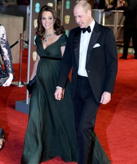 Prince William Kate Middleton BAFTA 2018