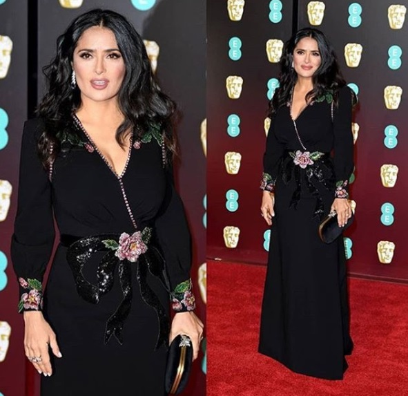Salma Hayek Best Dressed BAFTA 2018