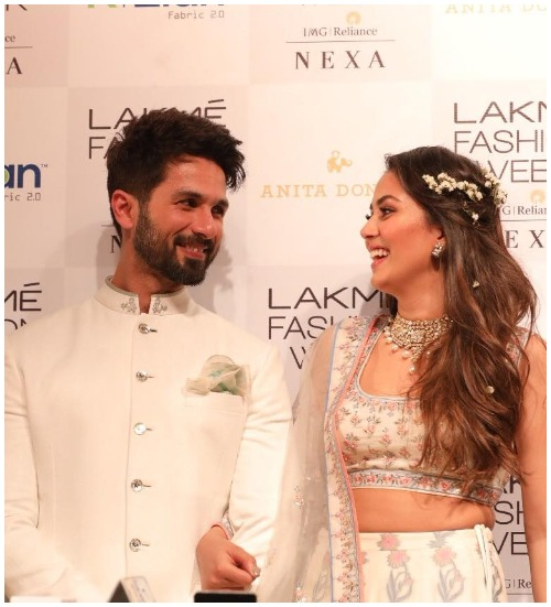 Shahid Kapoor- Mira Rajput Walk Hand-in-Hand As Showstopper For Anita Dongre At Lakme Fashion Week 2018 Day1