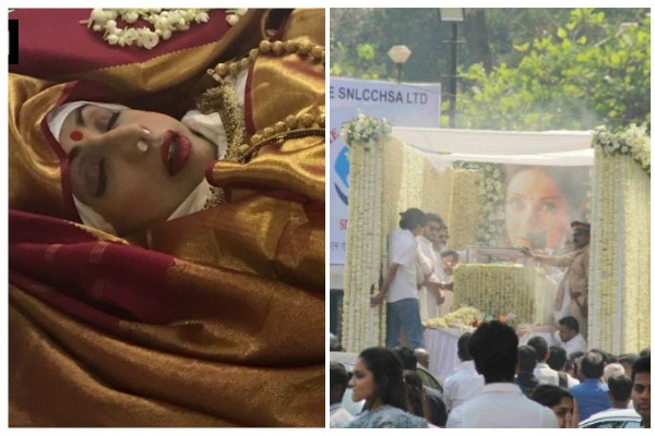 Watch: Sridevi's Mortal Remains Wrapped In Flag, Funeral With State Honors