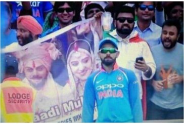 Watch Virat Kohli's Gesture After Seeing Virushka's Wedding Banner At Ind vs SA 2nd ODI