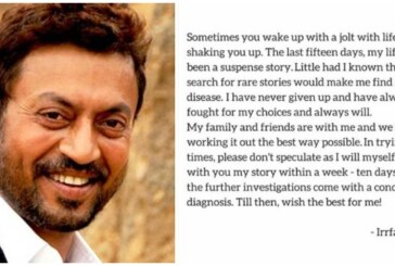 Bollywood Actor Irrfan Khan Reveals He Has Rare Disease, B-Town Stars Wish Speedy Recovery!