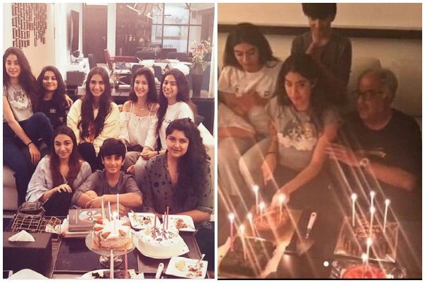 Sridevi's Daughter Janhvi Kapoor Turns 21, Cuts Birthday Cake With Cousins Sonam, Anshula And Others!
