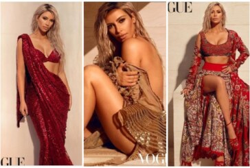 Kim Kardashian West Makes A Sizzling Appearance In A Sabyasachi Saree For Vogue India – See Pics