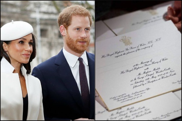 Here is How Royal Wedding Invitations Of Prince Harry and Meghan Markle Look Like