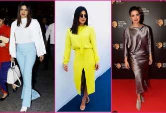 From Yellow To Purple To Metallic, Actress Priyanka Chopra Gives Us Serious Fashion Goals!